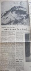 Chapman Crash at Elkhart Lake - July 11, 1959 Winnipeg Tribune